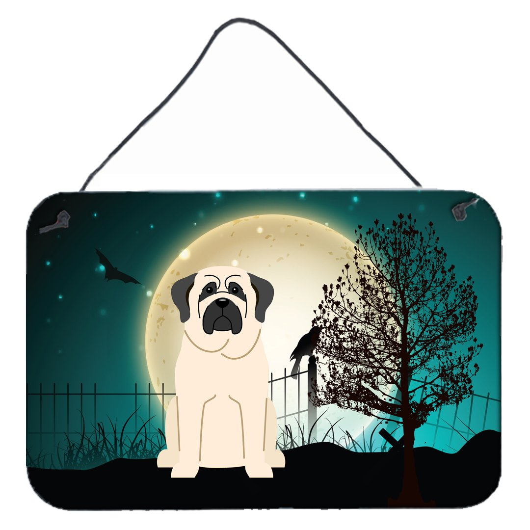 Halloween Scary Mastiff White Wall or Door Hanging Prints BB2207DS812 by Caroline's Treasures