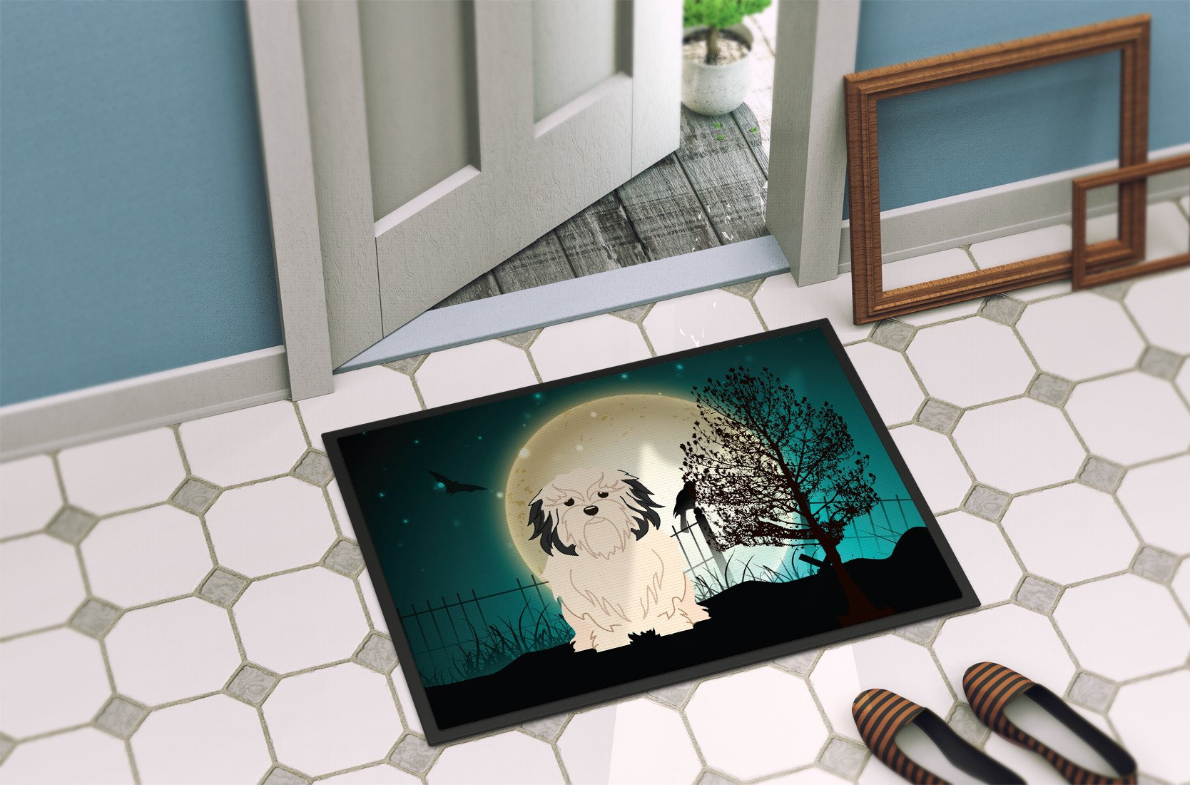 Halloween Scary Lowchen Indoor or Outdoor Mat 24x36 BB2209JMAT - the-store.com