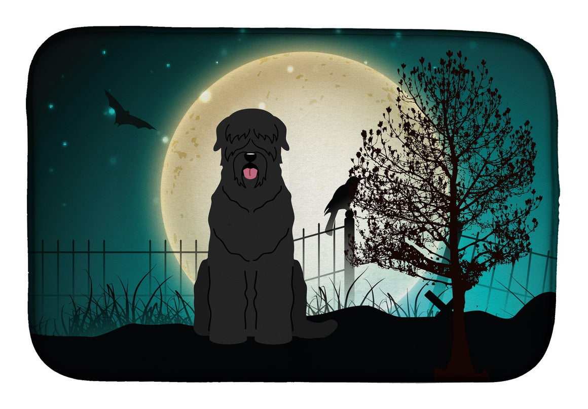 Buy this Halloween Scary Black Russian Terrier Dish Drying Mat BB2216DDM