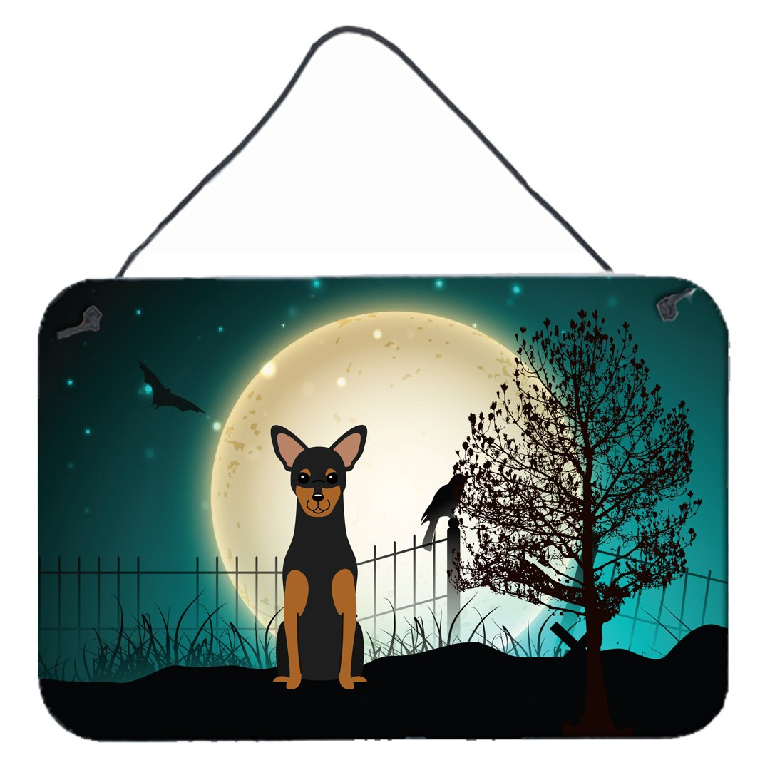 Halloween Scary Manchester Terrier Wall or Door Hanging Prints BB2218DS812 by Caroline's Treasures