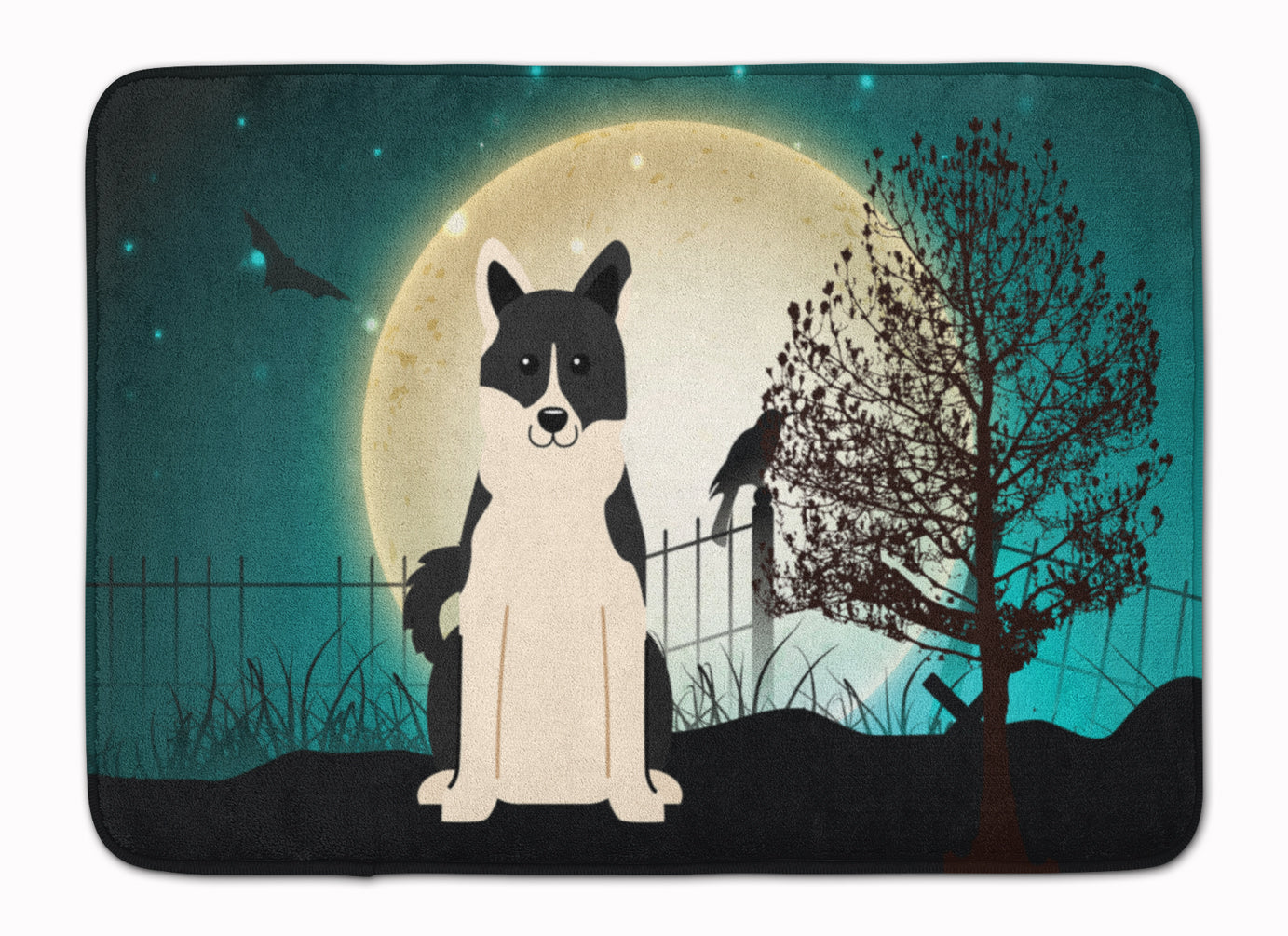 Halloween Scary Russo-European Laika Spitz Machine Washable Memory Foam Mat BB2219RUG by Caroline's Treasures