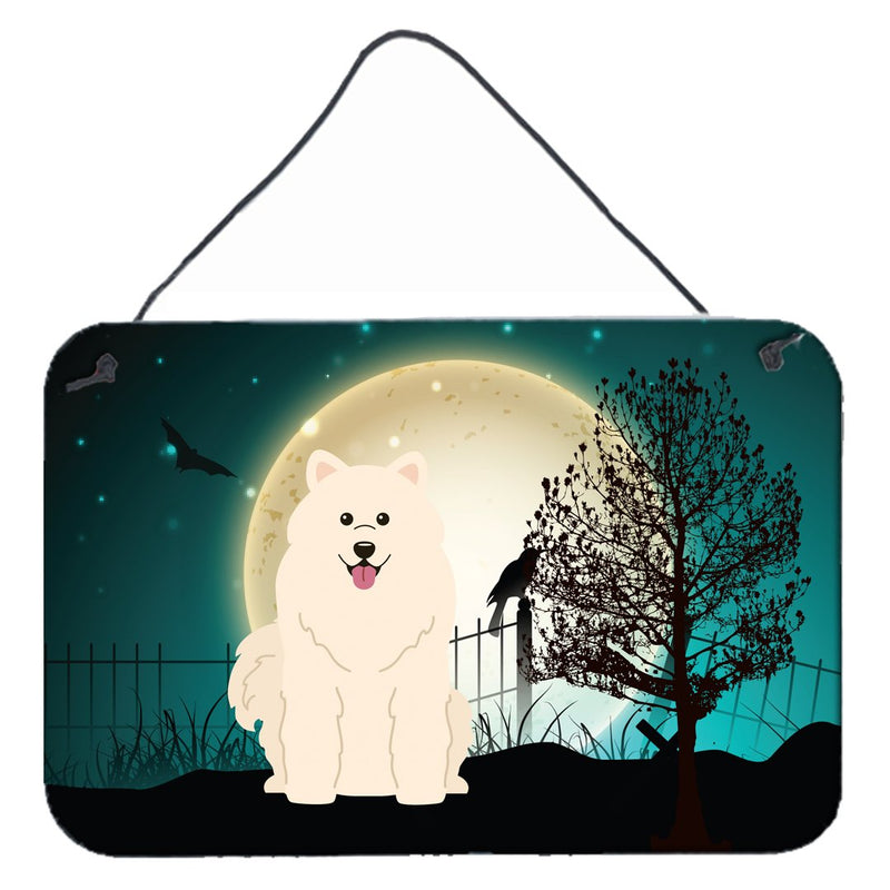 Buy this Halloween Scary Samoyed Wall or Door Hanging Prints BB2220DS812