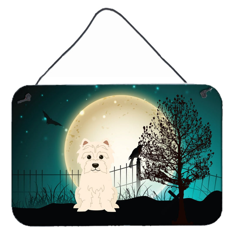 Buy this Halloween Scary Westie Wall or Door Hanging Prints BB2232DS812