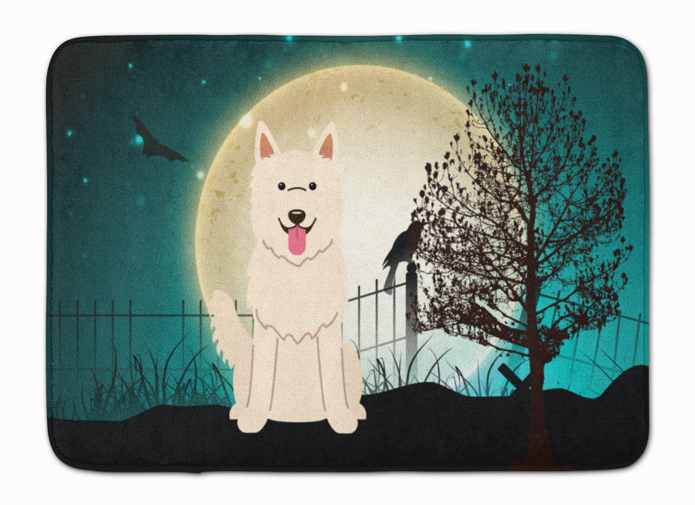 Halloween Scary White German Shepherd Machine Washable Memory Foam Mat BB2235RUG by Caroline's Treasures