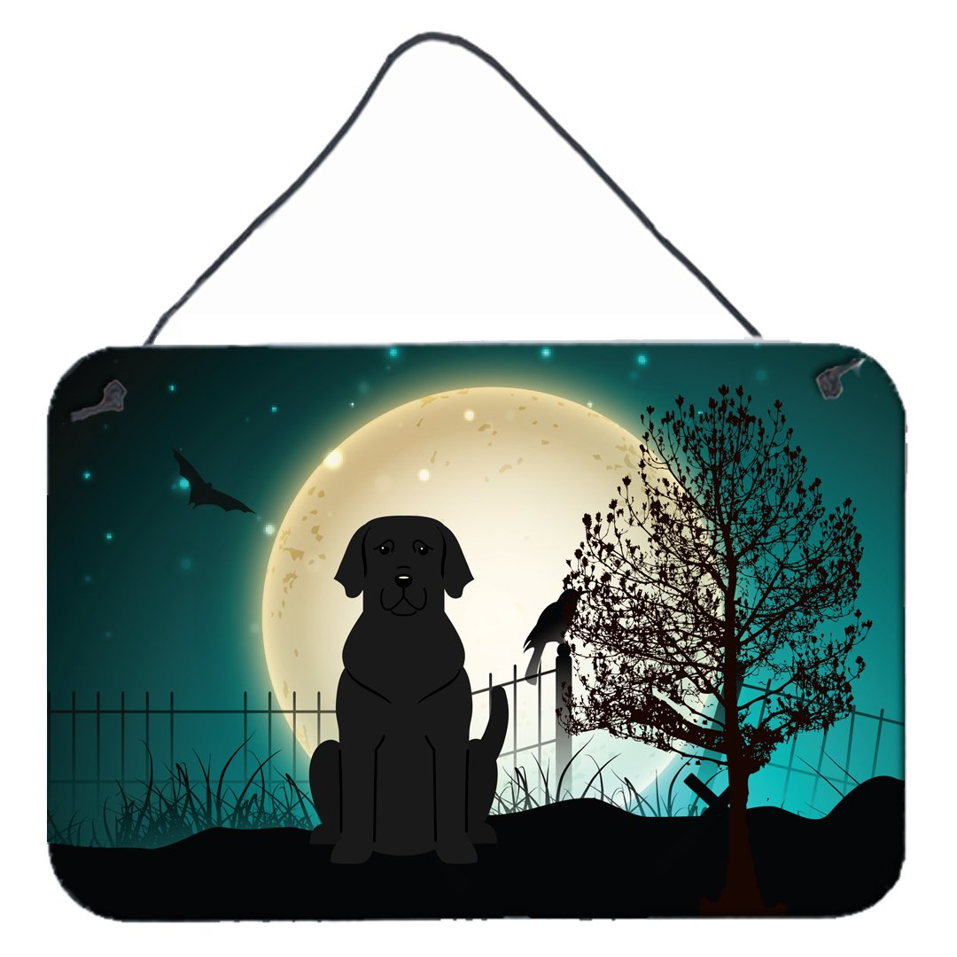 Buy this Halloween Scary Black Labrador Wall or Door Hanging Prints BB2247DS812