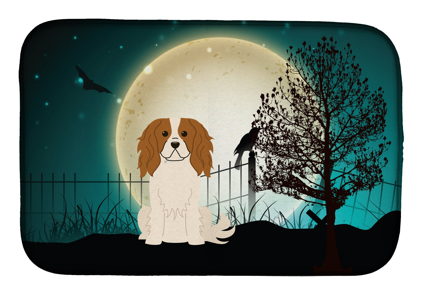 Halloween Scary Cavalier Spaniel Dish Drying Mat BB2248DDM by Caroline's Treasures