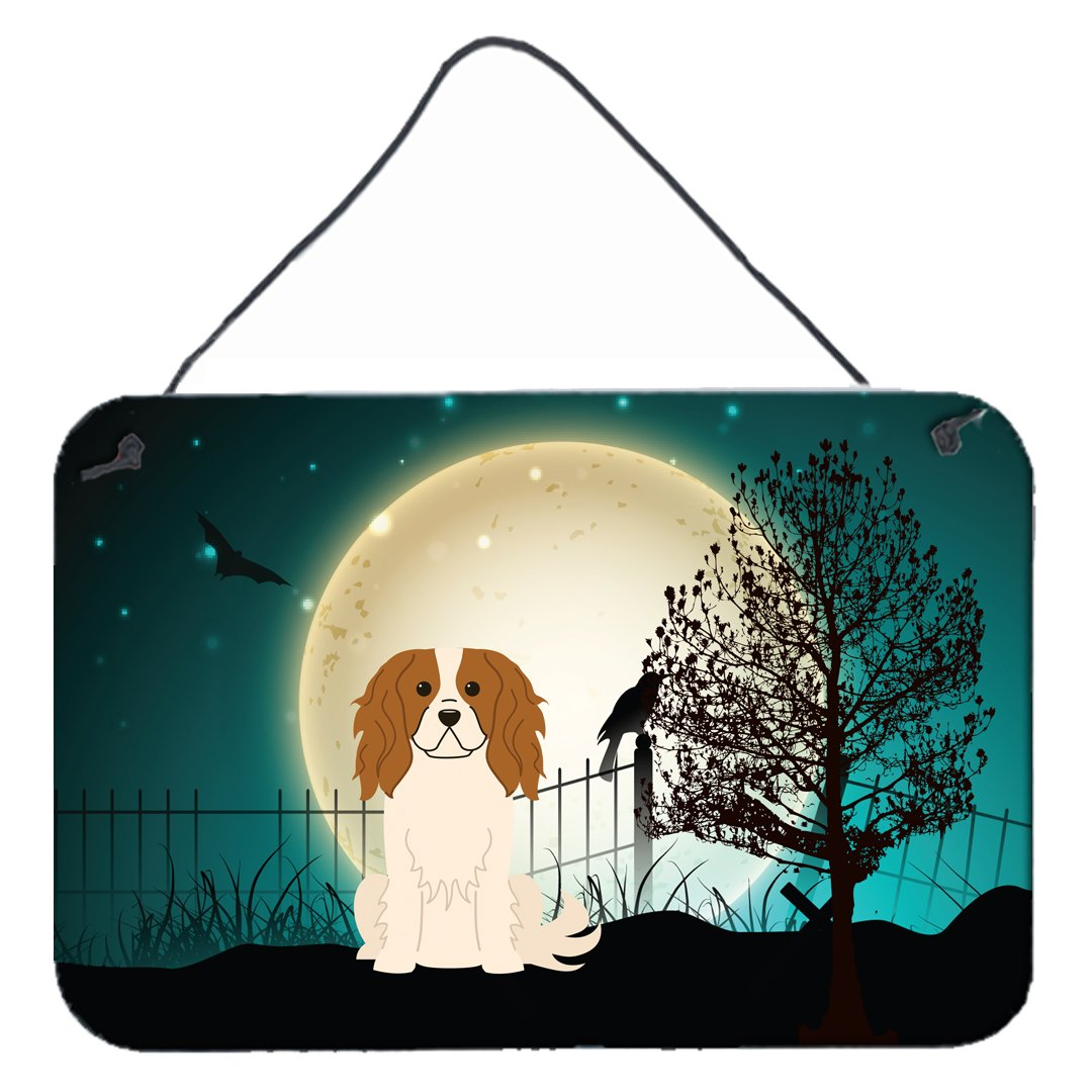 Buy this Halloween Scary Cavalier Spaniel Wall or Door Hanging Prints BB2248DS812
