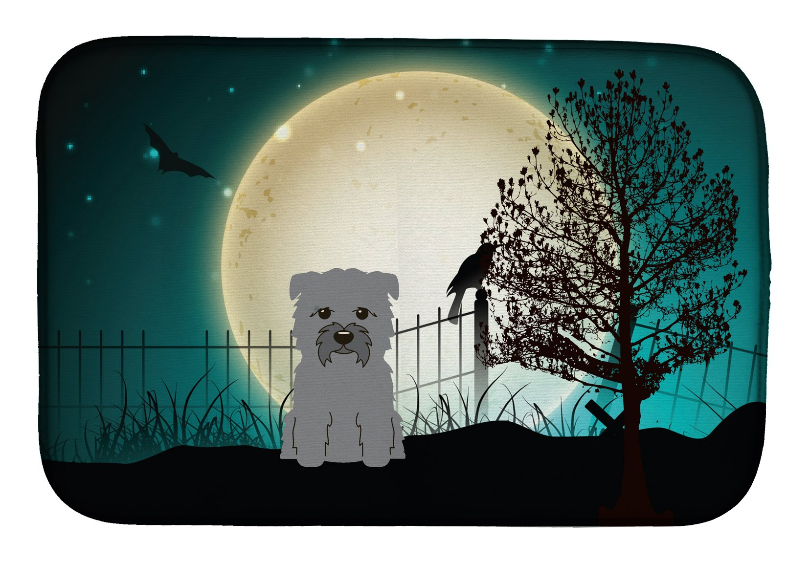 Buy this Halloween Scary Glen of Imal Grey Dish Drying Mat BB2249DDM