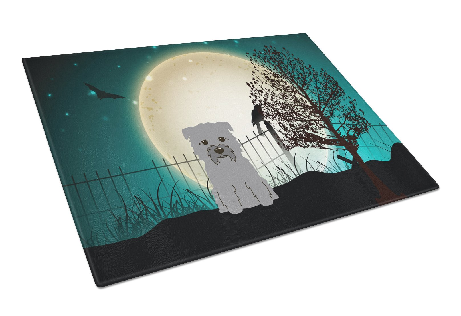 Buy this Halloween Scary Glen of Imal Grey Glass Cutting Board Large BB2249LCB
