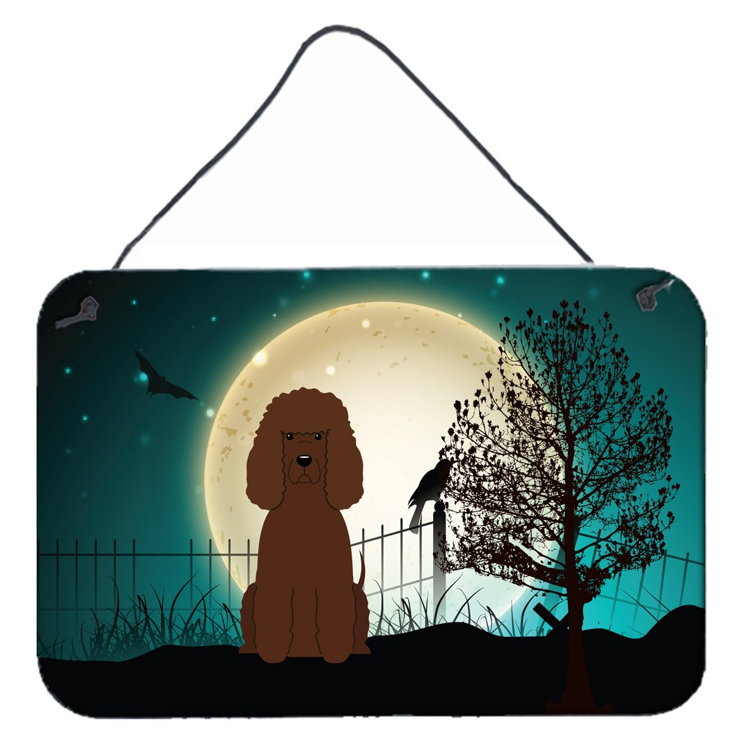 Buy this Halloween Scary Irish Water Spaniel Wall or Door Hanging Prints BB2253DS812