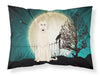 Buy this Halloween Scary Irish Wolfhound Fabric Standard Pillowcase BB2255PILLOWCASE