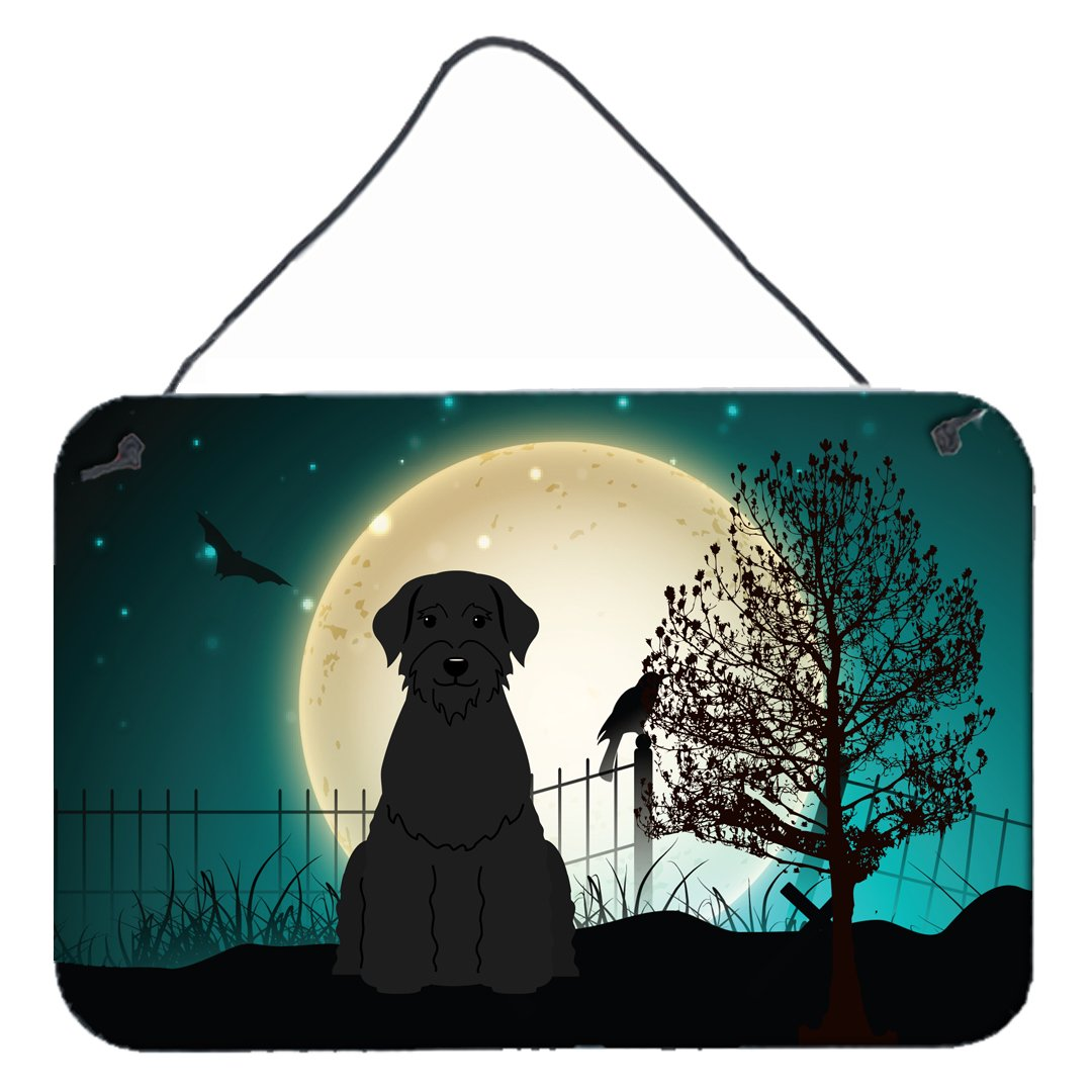 Buy this Halloween Scary Giant Schnauzer Wall or Door Hanging Prints BB2256DS812
