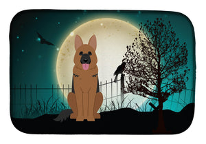 Buy this Halloween Scary German Shepherd Dish Drying Mat BB2257DDM