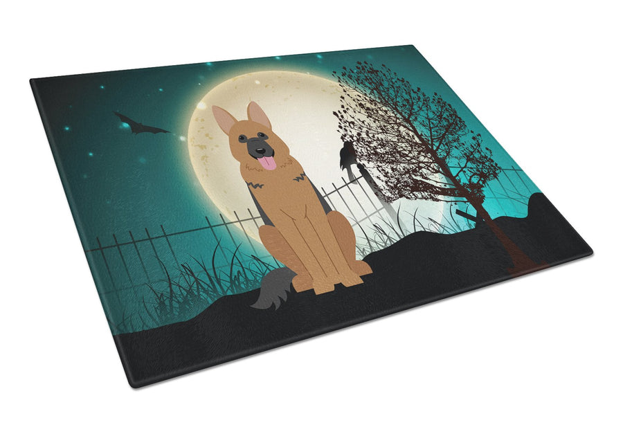Buy this Halloween Scary German Shepherd Glass Cutting Board Large BB2257LCB