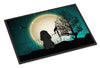 Halloween Scary Poodle Black Indoor or Outdoor Mat 24x36 BB2261JMAT - the-store.com