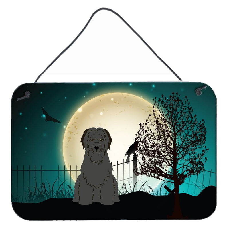 Buy this Halloween Scary Briard Black Wall or Door Hanging Prints BB2271DS812