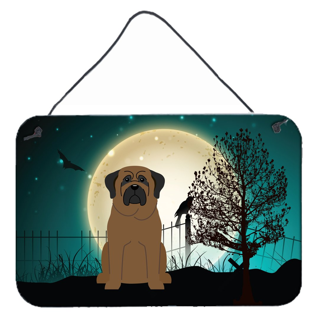 Buy this Halloween Scary Bullmastiff Wall or Door Hanging Prints BB2274DS812