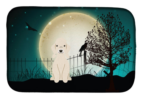 Buy this Halloween Scary Bedlington Terrier Sandy Dish Drying Mat BB2281DDM