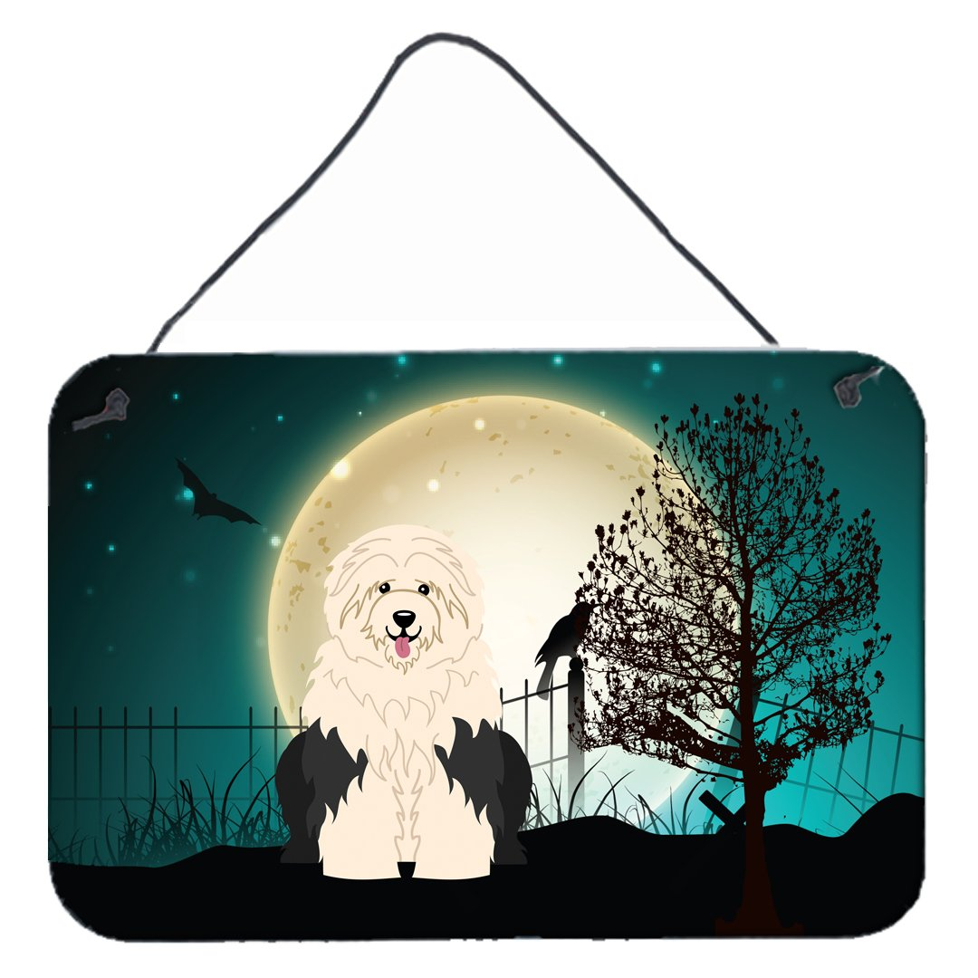 Buy this Halloween Scary Old English Sheepdog Wall or Door Hanging Prints BB2286DS812