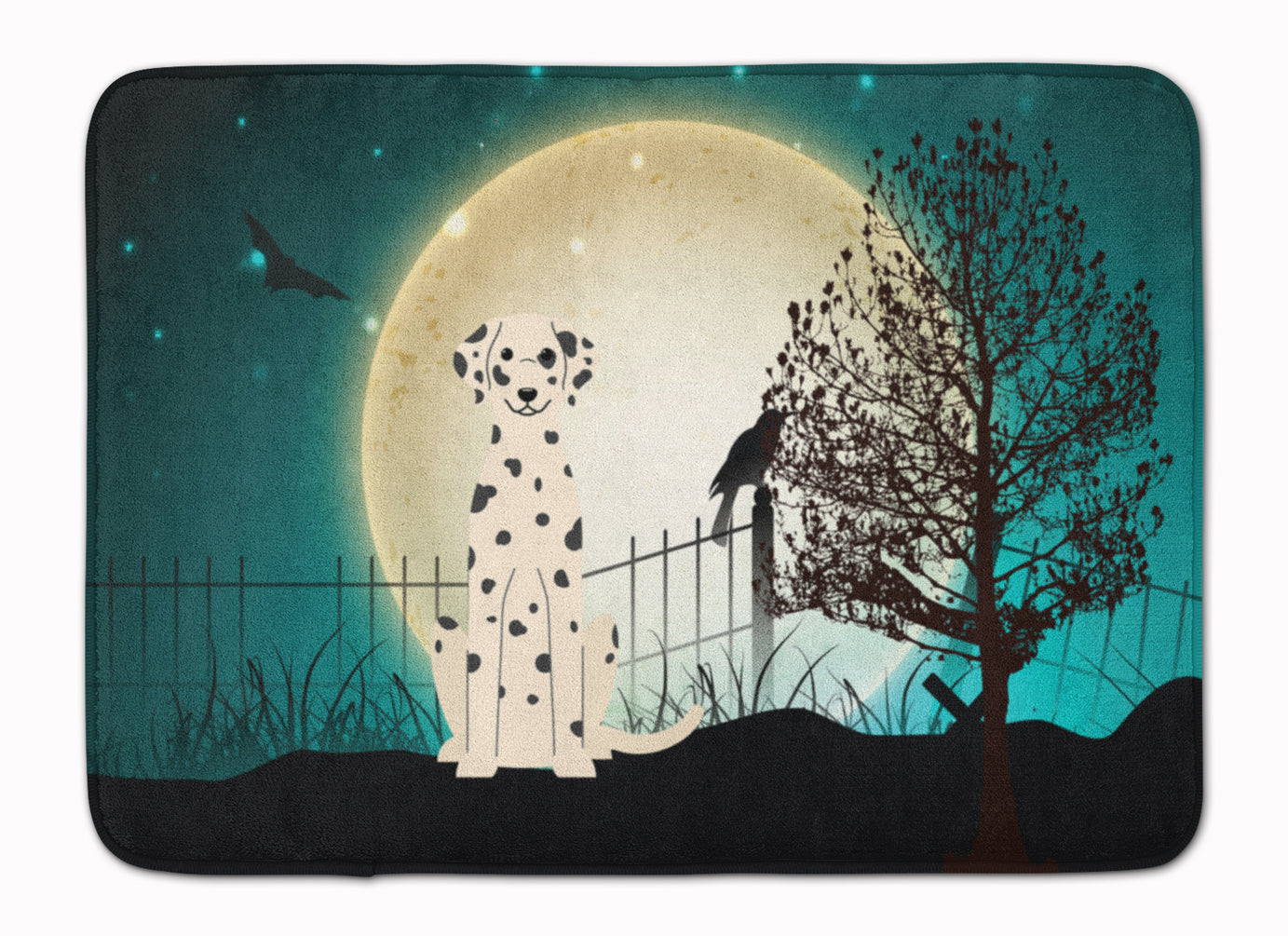 Halloween Scary Dalmatian Machine Washable Memory Foam Mat BB2287RUG by Caroline's Treasures