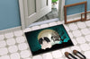 Halloween Scary Pekingnese Black White Indoor or Outdoor Mat 24x36 BB2295JMAT - the-store.com