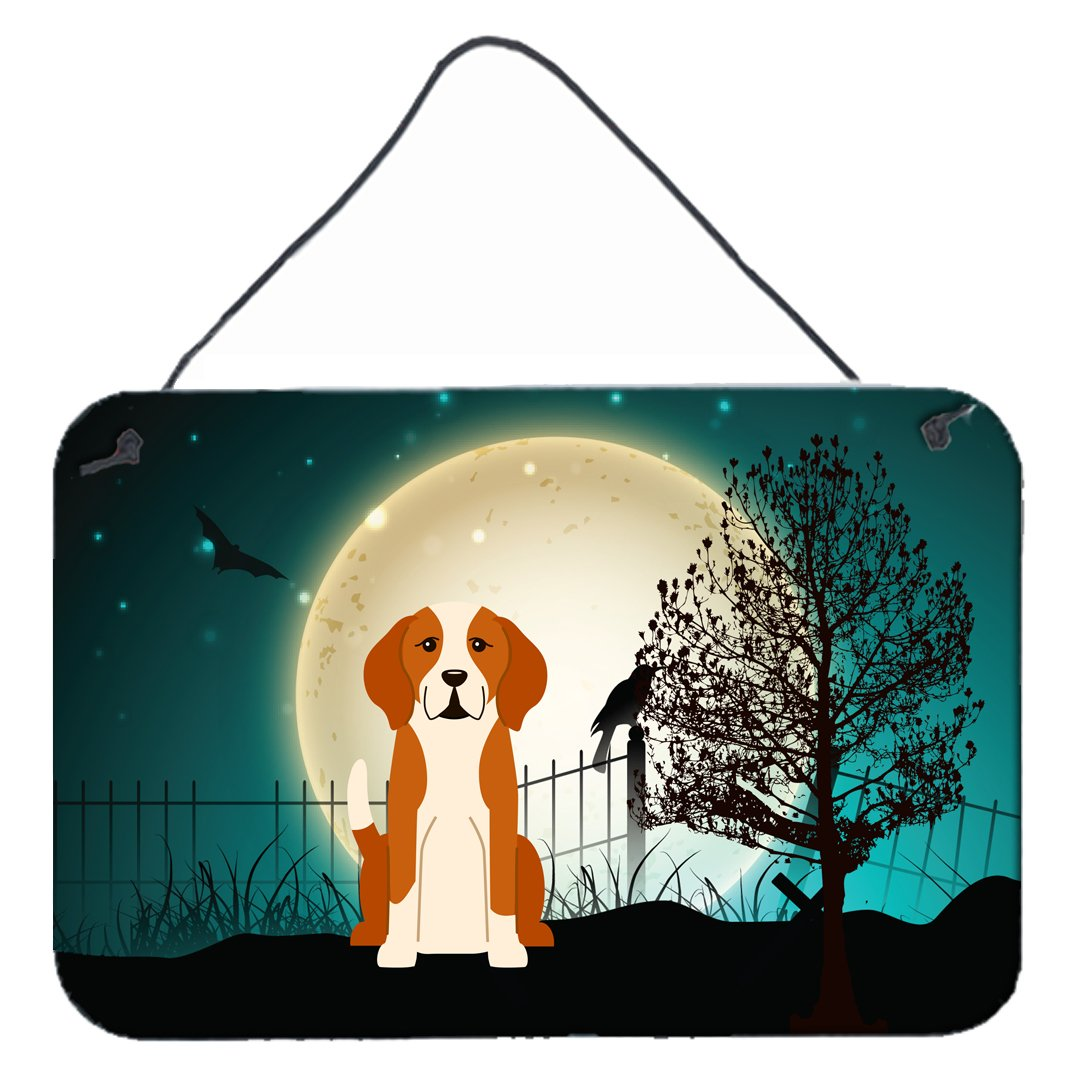 Halloween Scary English Foxhound Wall or Door Hanging Prints BB2300DS812 by Caroline's Treasures