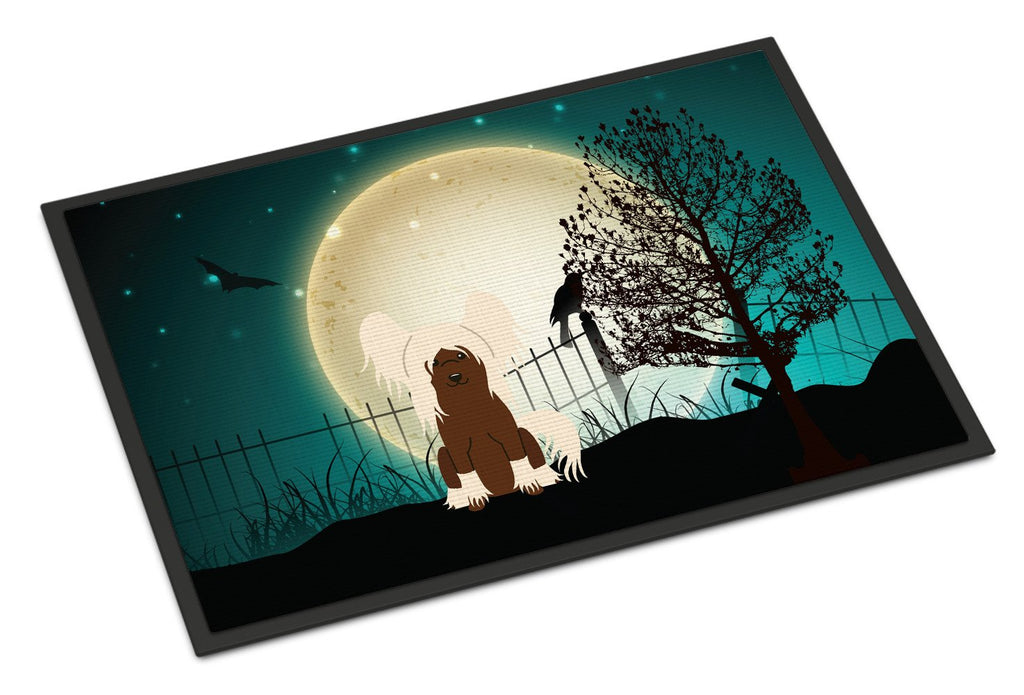 Buy this Halloween Scary Chinese Crested Cream Indoor or Outdoor Mat 24x36 BB2303JMAT