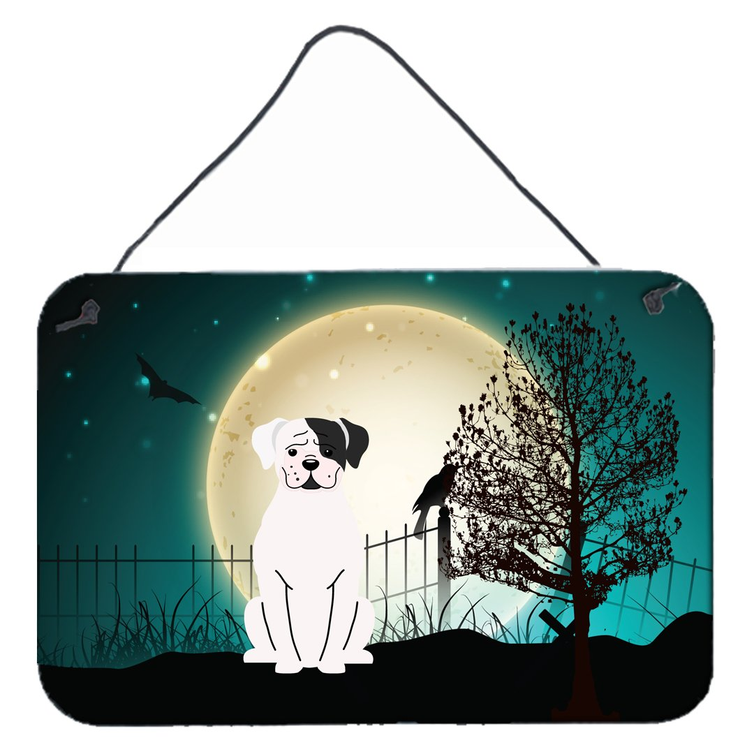 Buy this Halloween Scary White Boxer Cooper Wall or Door Hanging Prints