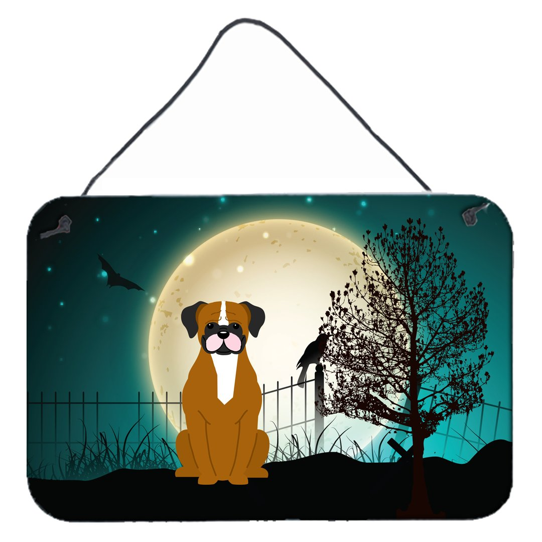Buy this Halloween Scary Flashy Fawn Boxer Wall or Door Hanging Prints BB2306DS812