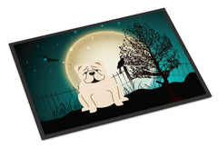 Buy this Halloween Scary  English Bulldog White Indoor or Outdoor Mat 24x36 BB2313JMAT