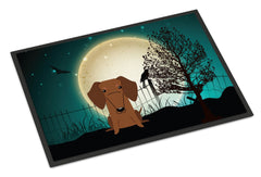 Buy this Halloween Scary Dachshund Red Brown Indoor or Outdoor Mat 24x36 BB2320JMAT