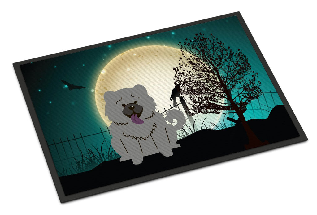 Buy this Halloween Scary Chow Chow Blue Indoor or Outdoor Mat 18x27 BB2329MAT