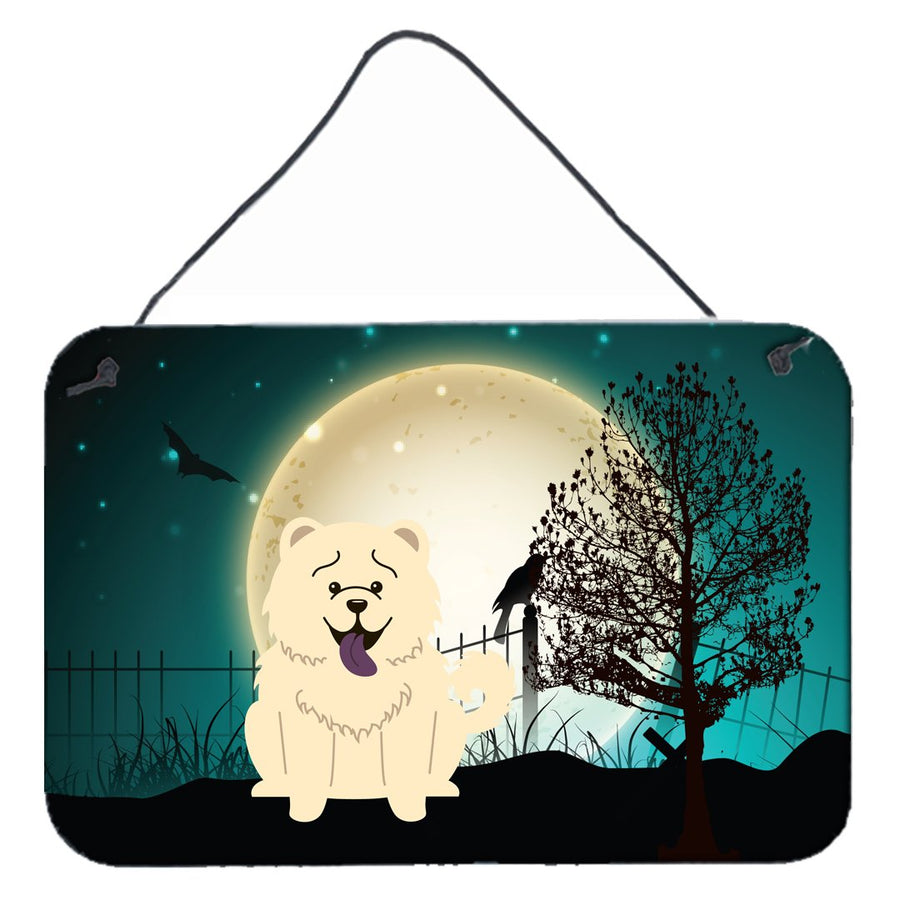 Buy this Halloween Scary Chow Chow White Wall or Door Hanging Prints BB2330DS812