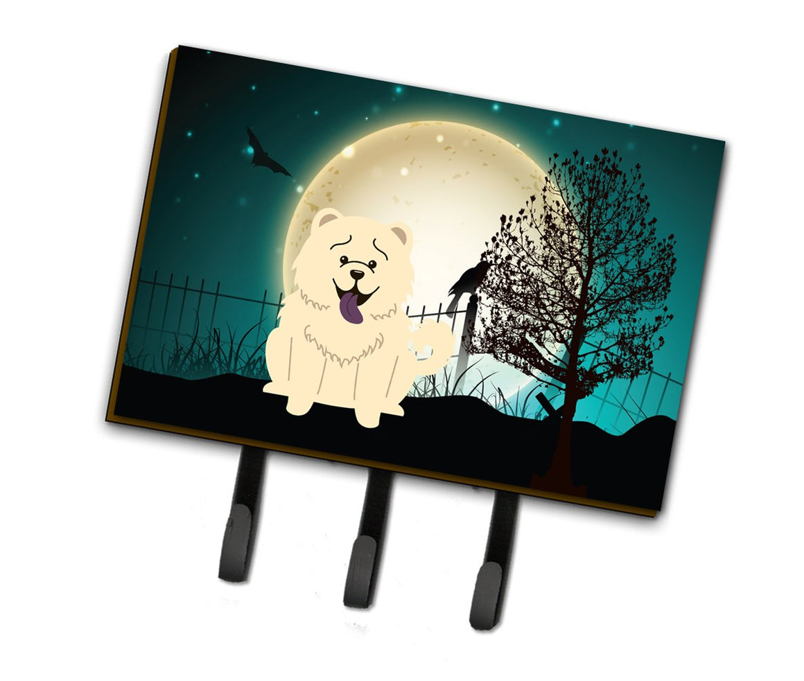 Buy this Halloween Scary Chow Chow White Leash or Key Holder BB2330TH68