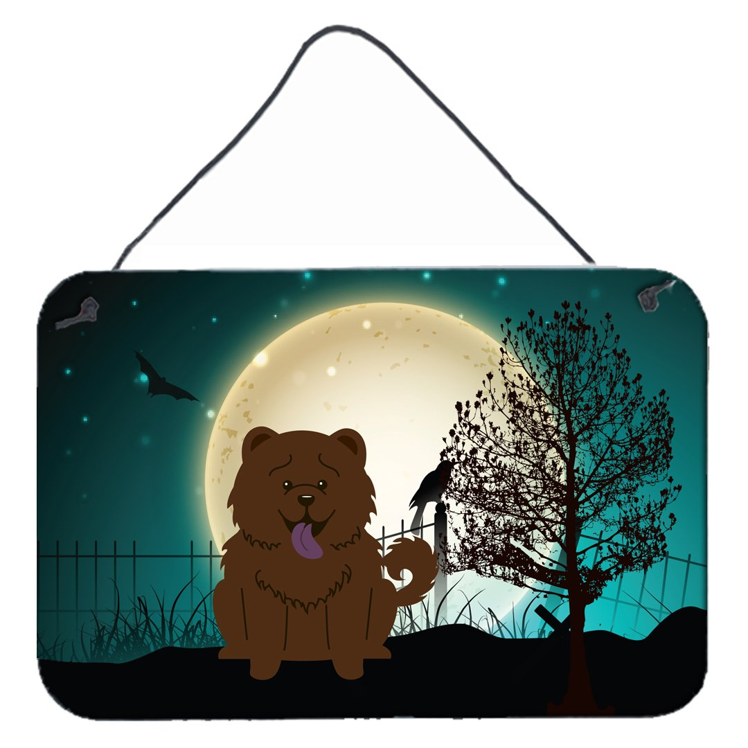 Halloween Scary Chow Chow Chocolate Wall or Door Hanging Prints BB2331DS812 by Caroline's Treasures