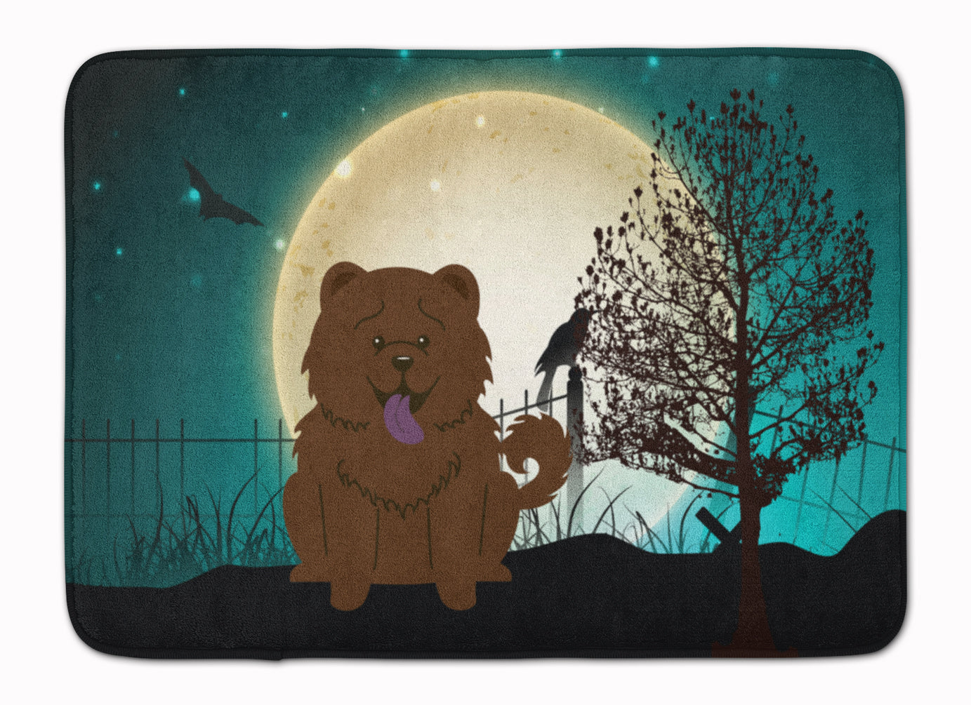 Halloween Scary Chow Chow Chocolate Machine Washable Memory Foam Mat BB2331RUG by Caroline's Treasures