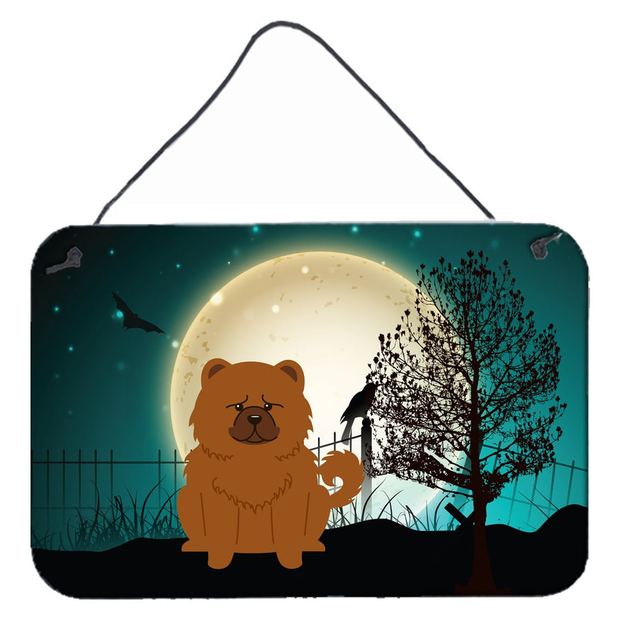 Buy this Halloween Scary Chow Chow Red Wall or Door Hanging Prints BB2332DS812