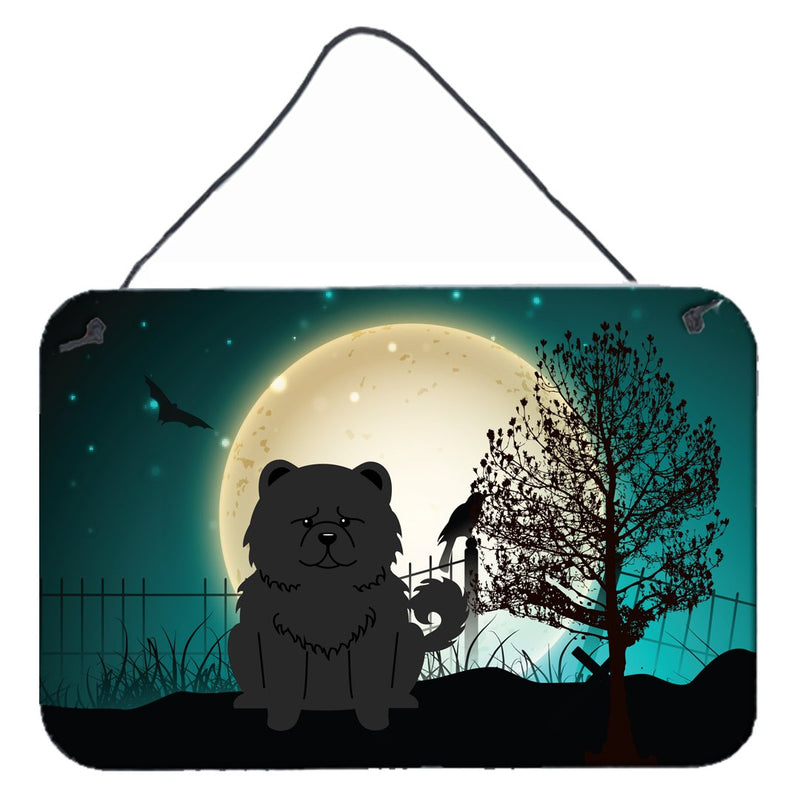 Buy this Halloween Scary Chow Chow Black Wall or Door Hanging Prints BB2333DS812