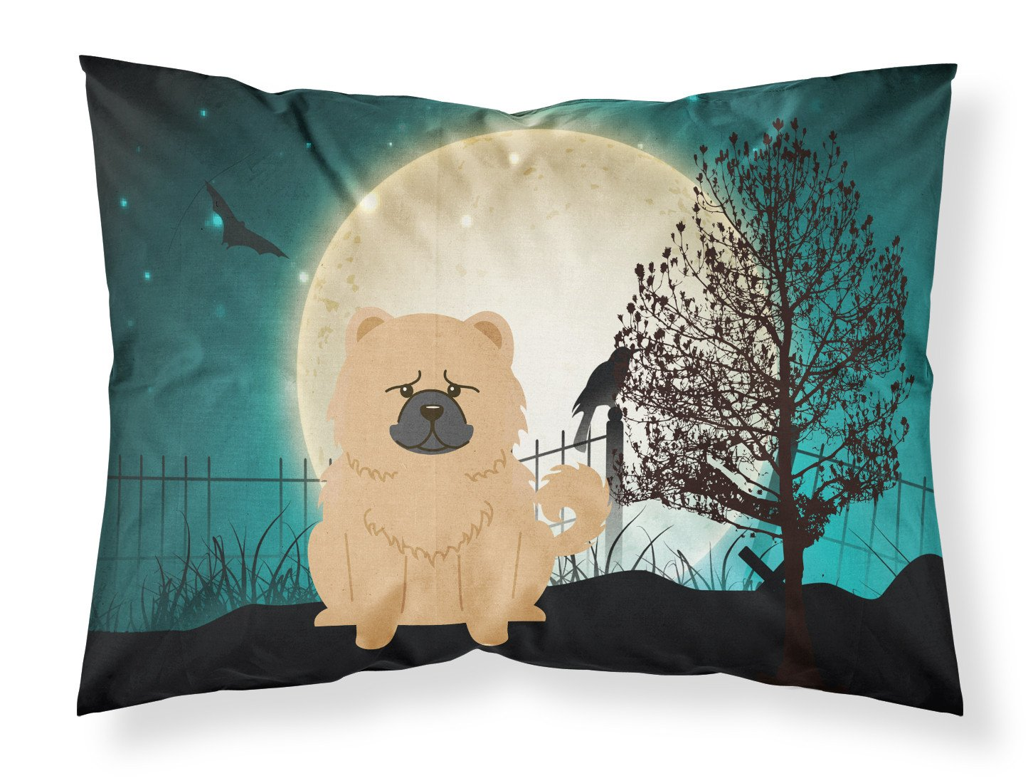 Halloween Scary Chow Chow Cream Fabric Standard Pillowcase BB2334PILLOWCASE by Caroline's Treasures
