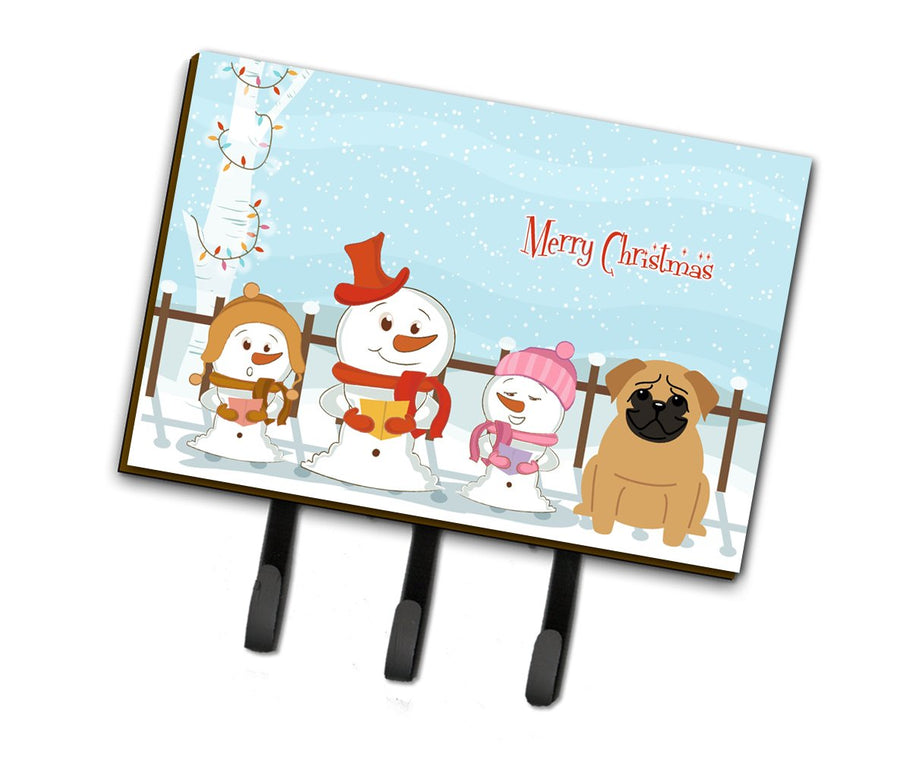Buy this Merry Christmas Carolers Pug Brown Leash or Key Holder BB2338TH68