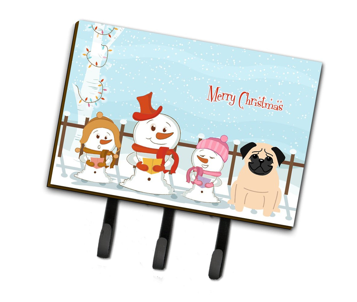 Buy this Merry Christmas Carolers Pug Fawn Leash or Key Holder BB2339TH68