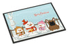 Merry Christmas Carolers French Bulldog Brown Indoor or Outdoor Mat 24x36 BB2344JMAT - the-store.com