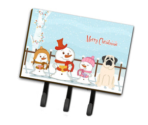 Buy this Merry Christmas Carolers Mastiff White Leash or Key Holder BB2348TH68