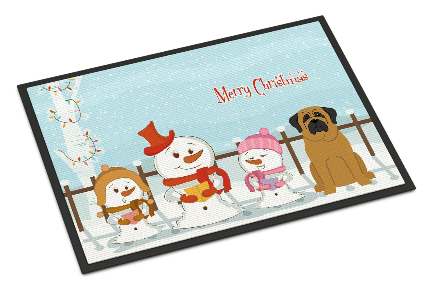 Merry Christmas Carolers Mastiff Indoor or Outdoor Mat 18x27 BB2349MAT by Caroline's Treasures