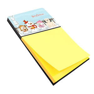 Buy this Merry Christmas Carolers Lowchen Sticky Note Holder BB2350SN