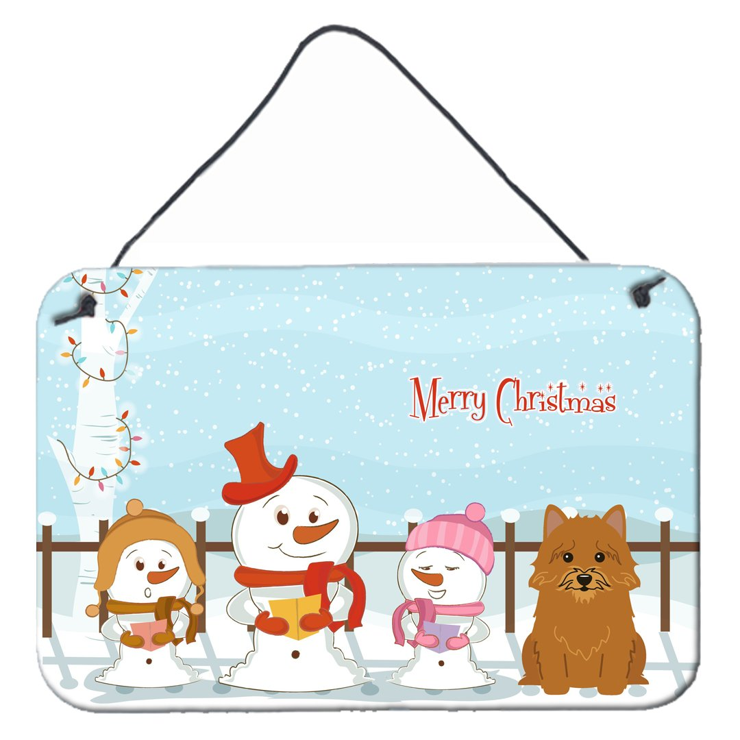 Buy this Merry Christmas Carolers Norwich Terrier Wall or Door Hanging Prints BB2351DS812