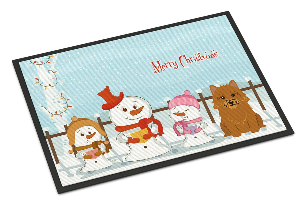 Buy this Merry Christmas Carolers Norwich Terrier Indoor or Outdoor Mat 18x27 BB2351MAT