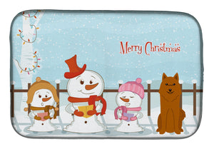 Buy this Merry Christmas Carolers Karelian Bear Dog Dish Drying Mat BB2353DDM
