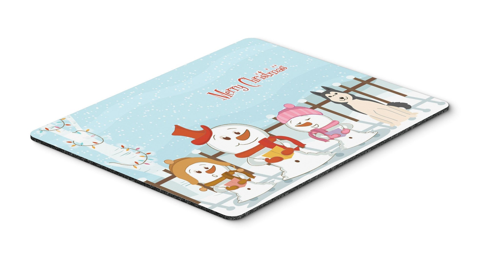 Merry Christmas Carolers West Siberian Laika Spitz Mouse Pad, Hot Pad or Trivet BB2356MP by Caroline's Treasures