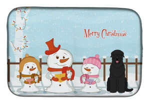 Buy this Merry Christmas Carolers Black Russian Terrier Dish Drying Mat BB2357DDM